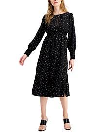 Smocked Printed Midi Dress, Created for Macy's