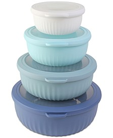 Cook With Color 8-Pc. Mixing Bowl Set with Lids
