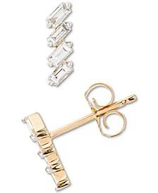 Diamond Baguette Stud Earrings (1/6 ct. t.w.) in 14k Gold