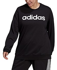 Essentials Plus Size Women's 3-Stripe Sweatshirt