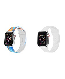 Unisex Orange Tie Dye and White 2-Pack Replacement Band for Apple Watch, 38mm
