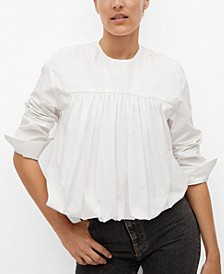Women's Ruffle Cotton Blouse