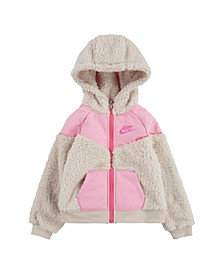 Toddler Girls Sherpa Full-Zip Hoodie