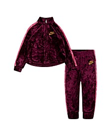 Toddler Girls Velour Track Suit