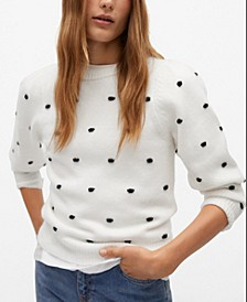 Women's Polka Dots Knit Sweater