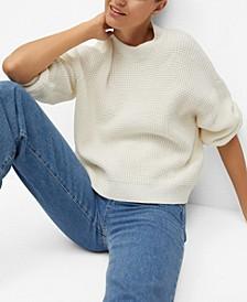 Women's Reverse-Knit Cotton Sweater