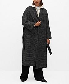 Women's Belted Wool Coat