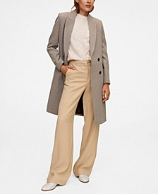 Women's Double-Breasted Wool Coat