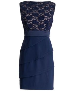 Lace-Top Sheath Dress
