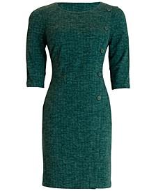 Button-Trim A-Line Dress