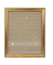 """Burnished Picture Frame - Classic Bead Border, 8"""" x 10"""""""