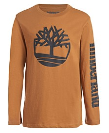 Big Boys Outline Tree Long Sleeve T-Shirt