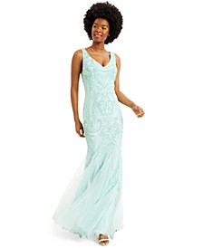 Juniors' Sequin Mermaid Gown, Created for Macy's