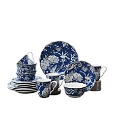 Adelaide Dark Blue 16 Piece Dinnerware Set, Service for 4