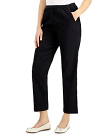 Petite Denim Pull-On Pants, Created for Macy's