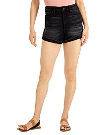 Juniors' Curvy High-Rise Denim Shorts