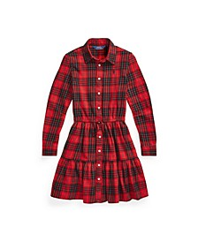 Little Girls Plaid Cotton Twill Shirtdress