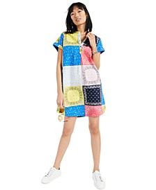 Cotton Patchwork Shirtdress, Created for Macy's