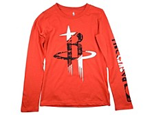 Youth Houston Rockets Swerve Long-Sleeve T-Shirt