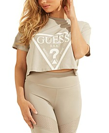 Cropped Logo Cotton T-Shirt