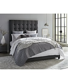Olivia Grey Cal-King Bed, Created for Macy's