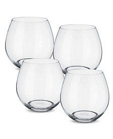 Entrée Juice or Red Wine Stemless, Set of 4