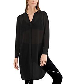 Semi-Sheer Tunic Blouse, Created for Macy's