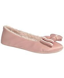Women's Mallow Satin Ballerina Slippers
