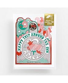 Aries Lapel Pin Card