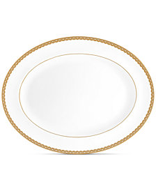 Waterford Lismore Lace Gold Oval Platter 15.5""