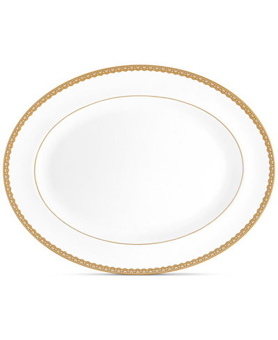 Waterford Lismore Lace Gold Oval Platter 15.5