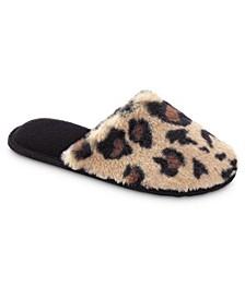 Isotoner Women's Boxed Faux Fur Laurel Clog Slippers