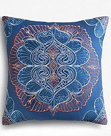 Floral Medallion Decorative Pillow, Created for Macy's
