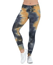 Women's Plus Size Tie Dye Print Ankle Cuff Sweatpants