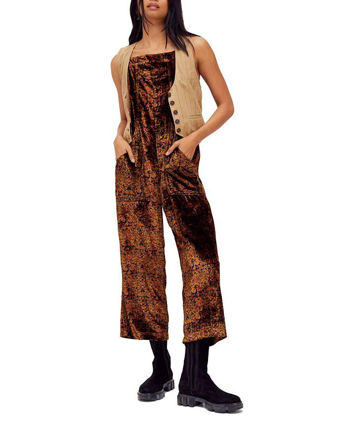 Free People - Weekender Printed Velvet Jumpsuit