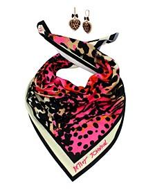 Leopard Bandana Earring Set