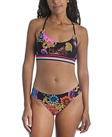 Electric Reef Bralette Bikini Top & Hipster Bikini Bottoms