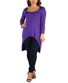 Women's Long Sleeve High Low Tunic Top