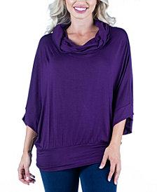 Women's Oversized Cowl Neck Tunic Top