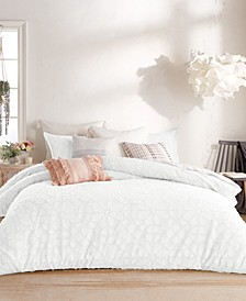 Clipped Floral Comforter Set, Full/Queen