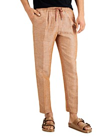 Men's Slim-Fit Chambray Tapered Pants, Created for Macy's
