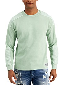 Men's Rivera Military-Inspired Waffle Knit Sweater