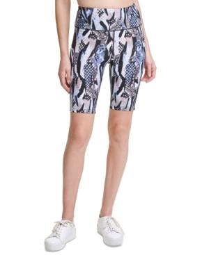 Calvin Klein Performance High-waist Bike Shorts In Blue