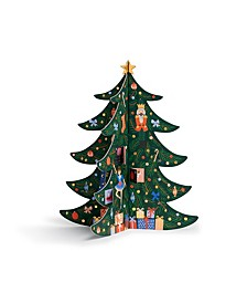 Christmas Tree Advent Calendar with 25 Illustrations