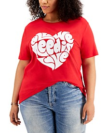Plus Trendy All We Need Is Love T-Shirt