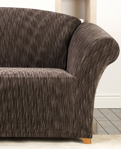 Sure Fit Stretch Space Dye 1-Piece Slipcover Collection
