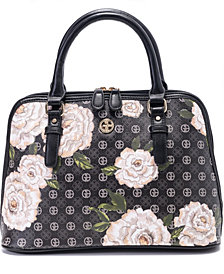Giani Bernini Floral Signature Dome Satchel, Created for Macy's