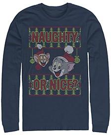 Men's Tom Jerry Naughty or Nice Long Sleeve T-shirt