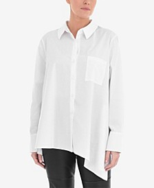 Plus Size Asymmetric Shirt