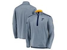 St. Louis Blues Men's Travel & Training Quarter Zip Pullover